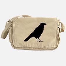 Crow Silhouette Messenger Bag