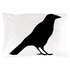 Crow Silhouette Pillow Case