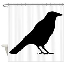 Crow Silhouette Shower Curtain
