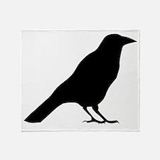 Crow Silhouette Throw Blanket