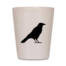 Crow Silhouette Shot Glass