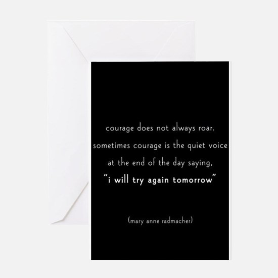 Journal Courage Greeting Cards