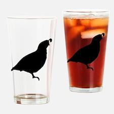 Quail Silhouette Drinking Glass