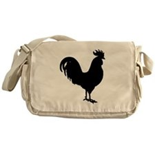 Rooster Silhouette Messenger Bag