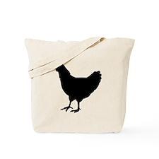 Chicken Silhouette Tote Bag