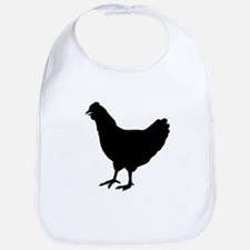 Chicken Silhouette Bib