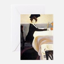 Vintage artwork: The Supper, paintin Greeting Card