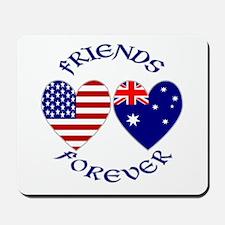 Australia USA Friends Mousepad