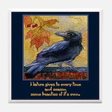 Tuscan Moon and Crow Raven Tile Coaster