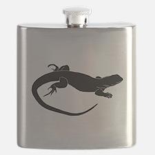 Lizard Silhouette Flask