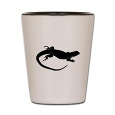Lizard Silhouette Shot Glass