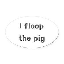 Floop Oval Car Magnet