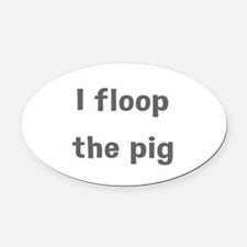 Floop Oval Car Magnet