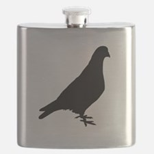 Pigeon Silhouette Flask