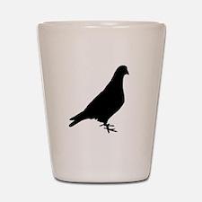 Pigeon Silhouette Shot Glass