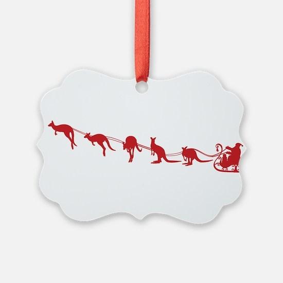 Kangaroo Santa Ornament