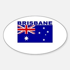 Brisbane, Australia Oval Decal