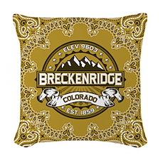 Breckenridge Tan Woven Throw Pillow