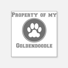 Property Of My Goldendoodle Sticker