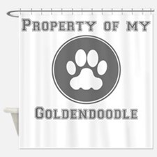 Property Of My Goldendoodle Shower Curtain
