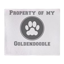 Property Of My Goldendoodle Throw Blanket