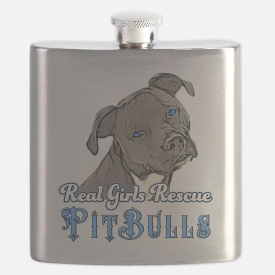 Real Girls Rescue Pitbulls Flask