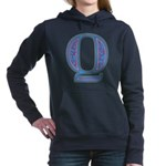 Q Blue Glass Hooded Sweatshirt