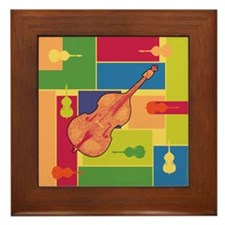Double Bass Colorblocks Framed Tile