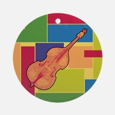 Double Bass Colorblocks Ornament (Round)