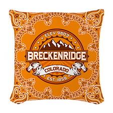 Breckenridge Tangerine Woven Throw Pillow