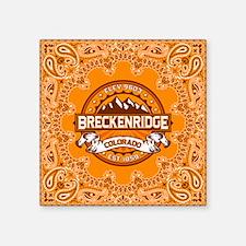 """Breckenridge Tangerine Square Sticker 3"""" x 3"""""""