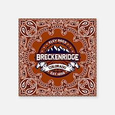 """Breckenridge Vibrant Square Sticker 3"""" x 3"""""""