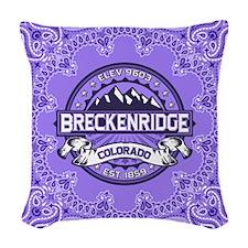 Breckenridge Violet Woven Throw Pillow