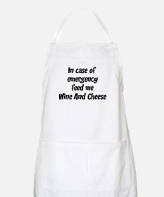 Feed me Wine And Cheese BBQ Apron
