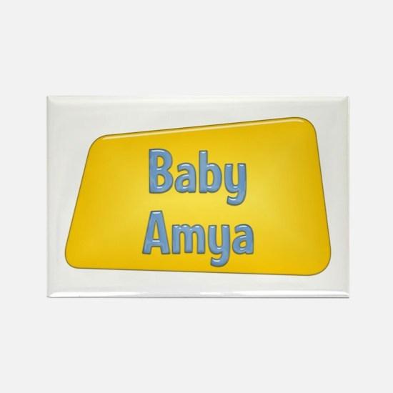 Baby Amya Rectangle Magnet