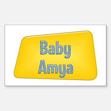 Baby Amya Rectangle Decal