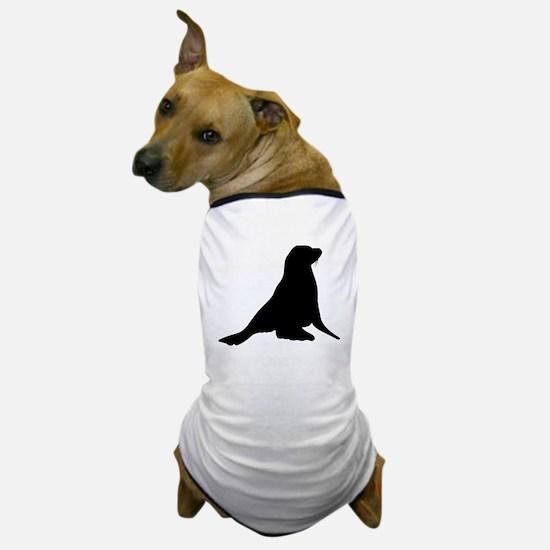 Sea Lion Silhouette Dog T-Shirt