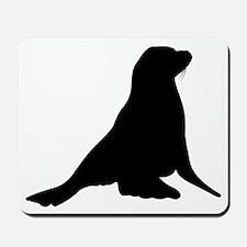 Sea Lion Silhouette Mousepad