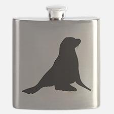 Sea Lion Silhouette Flask