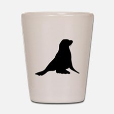 Sea Lion Silhouette Shot Glass