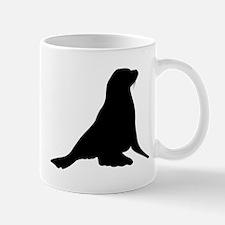 Sea Lion Silhouette Mugs
