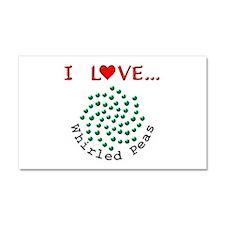 I Love Whirled Peas Car Magnet 20 x 12