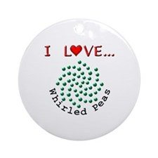 I Love Whirled Peas Ornament (Round)