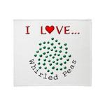 I Love Whirled Peas Throw Blanket