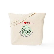 I Love Whirled Peas Tote Bag