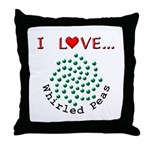 I Love Whirled Peas Throw Pillow