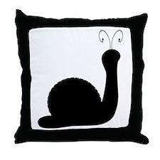 Snail Silhouette Throw Pillow