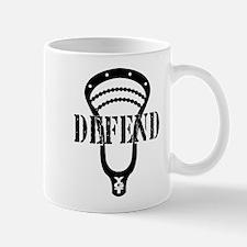 Lacrosse Defend Head Black Mug