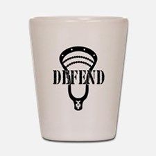 Lacrosse Defend Head Black Shot Glass