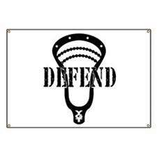 Lacrosse Defend Head Black Banner